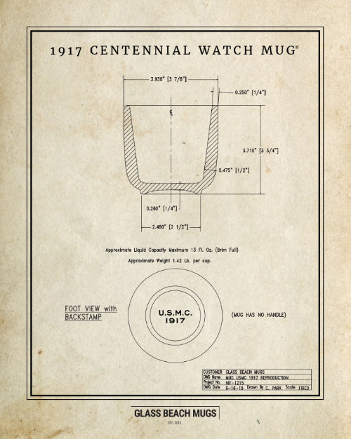 Factory Drawing — The 1917 Centennial Watch Mug™ 16x20 Poster